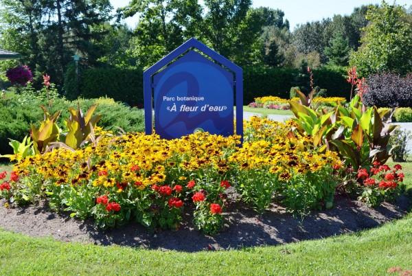 parc botanique à fleur d'eau